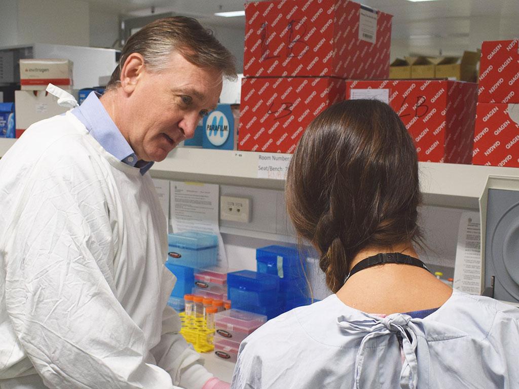 Professor Richard Lock has led this research into leukaemia