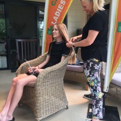 ladies committee hair cut fundraiser