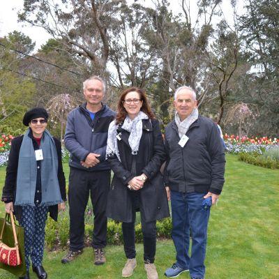 Ladies' Committee representatives in garden