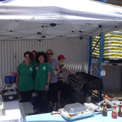 ladies committee holding barbecue