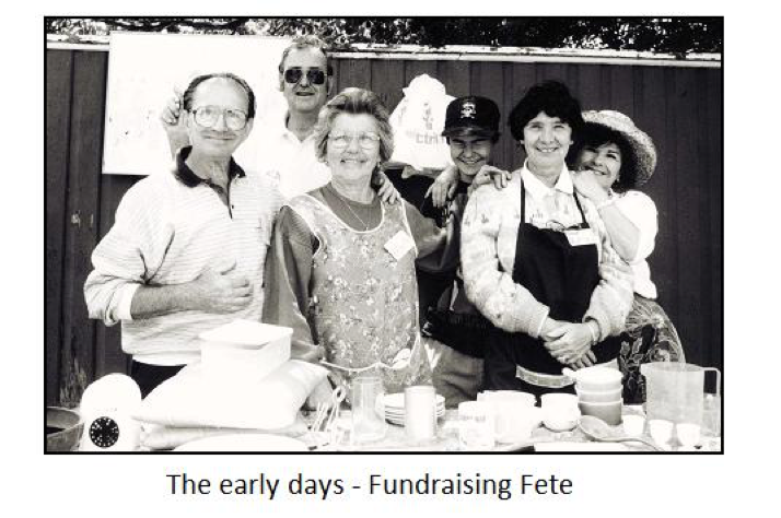 Ladies Committee in the early days at a Fundraising Fete